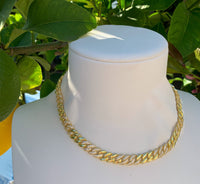 PRE-ORDER Silver gold plated mixed pave link necklace
