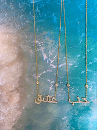 "PRE-ORDER ""Love"" gold necklaces"