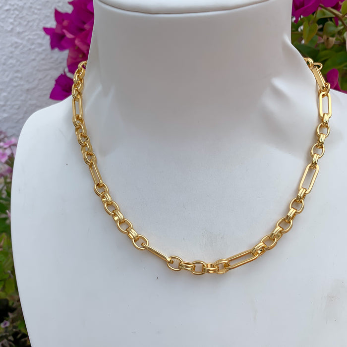 """Hera"" 18k gold plated chunky chain necklace"
