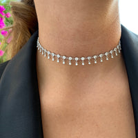 PRE-ORDER Sterling silver shaker choker necklace