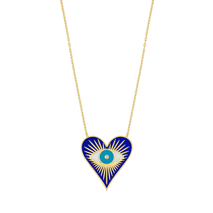 "Silver gold plated ""Eye love you"" necklace"