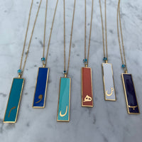 Silver gold plated Farsi/Arabic initial necklaces