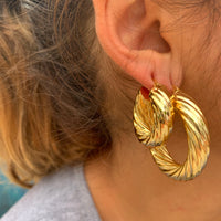 Small 18k gold plated twisted hoops