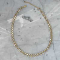 Silver gold plated shaker drops necklace