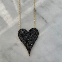 "Silver gold plated ""Amore"" MEDIUM heart necklaces"
