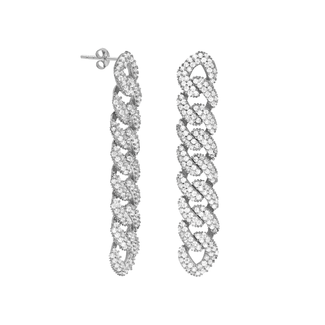 Sterling silver link earrings (short & long)