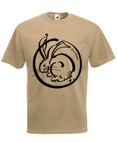 Moon Rabbit beige t-shirt