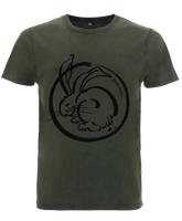 Moon Rabbit washed green t-shirt