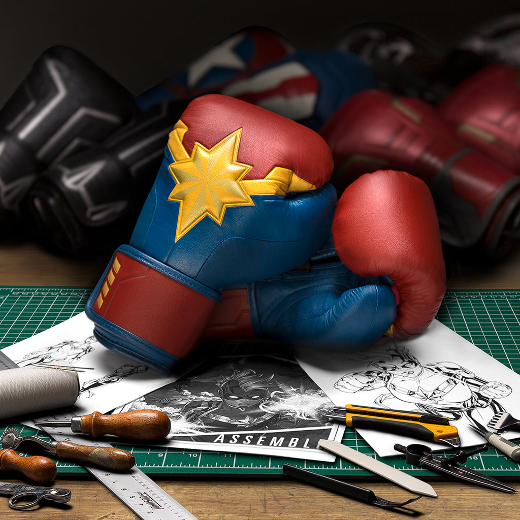 Designing Captain Marvel Boxing Gloves