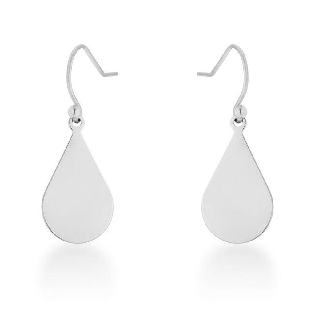 Silver Classic Teardrop Earrings
