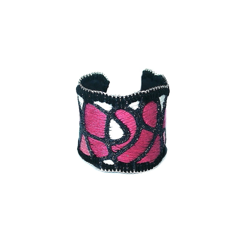 Happy Blush Cuff Bracelet (gunmetal color)