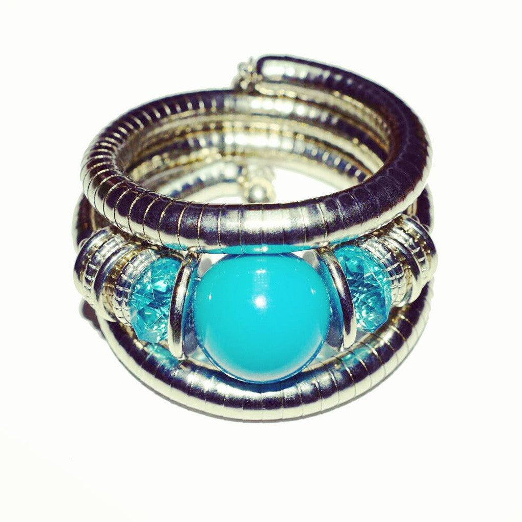 Turquoise Curl-on Bracelet