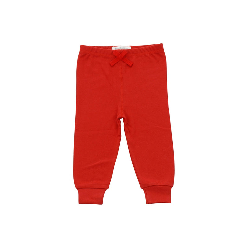 red cozy pants