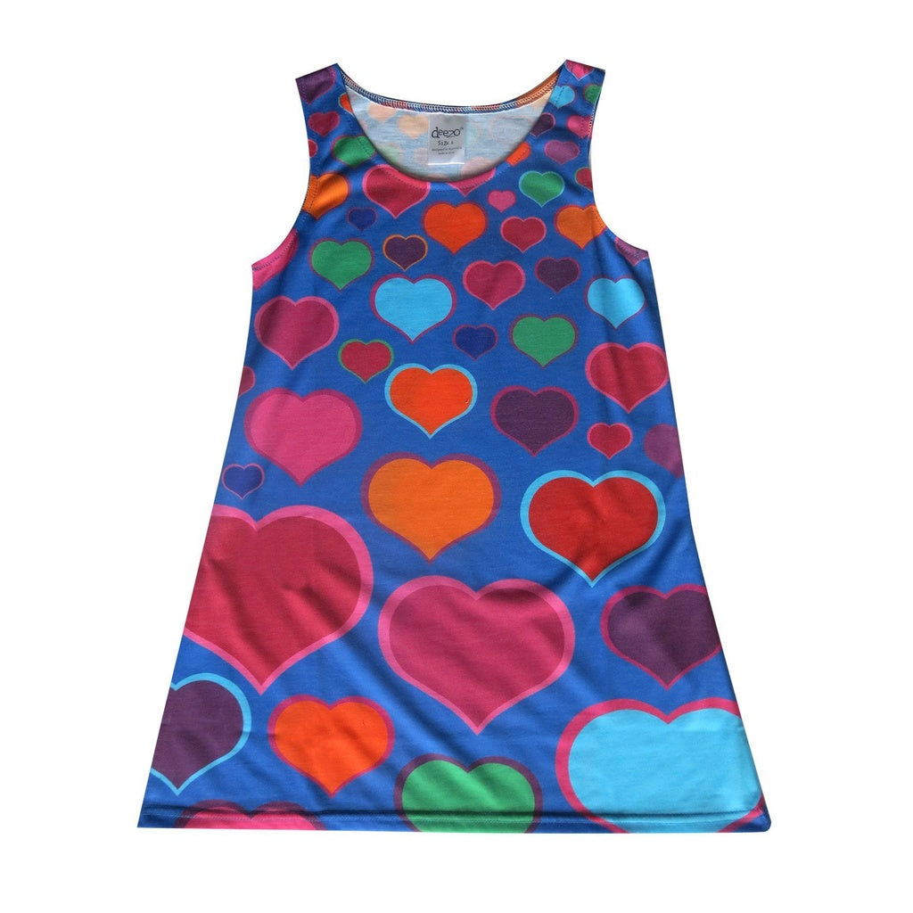 Blue hearts - Girl dress