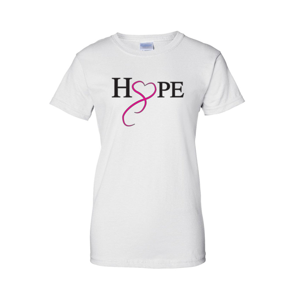 Juniors Hope & Love Breast Cancer Awareness T-shirt