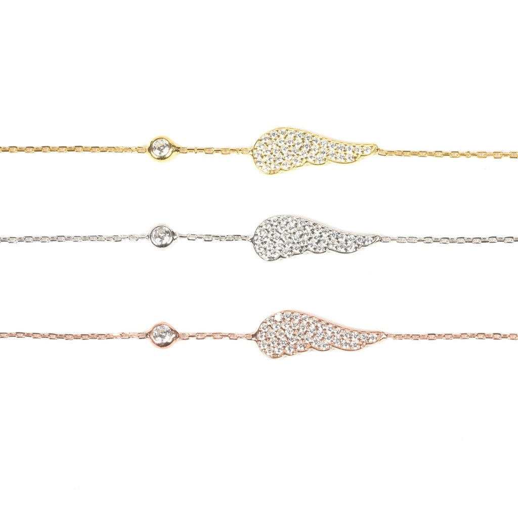 Small Angel Wing Bracelet