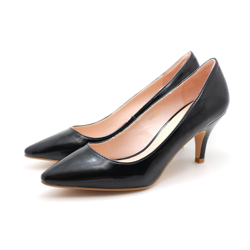 Patent Pointed Toe Pumps (Black)
