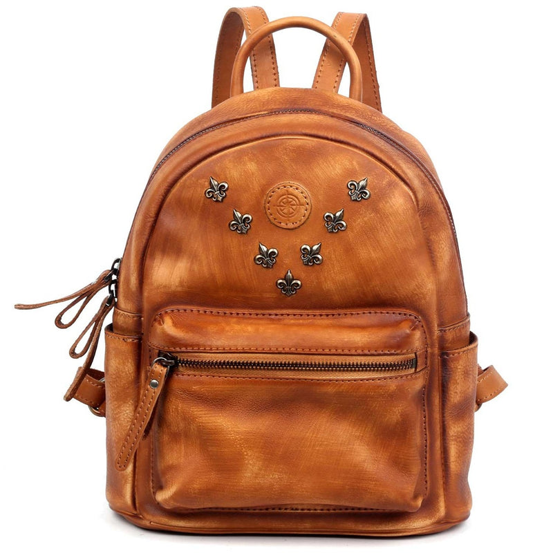 Petti Pack Leather Backpack
