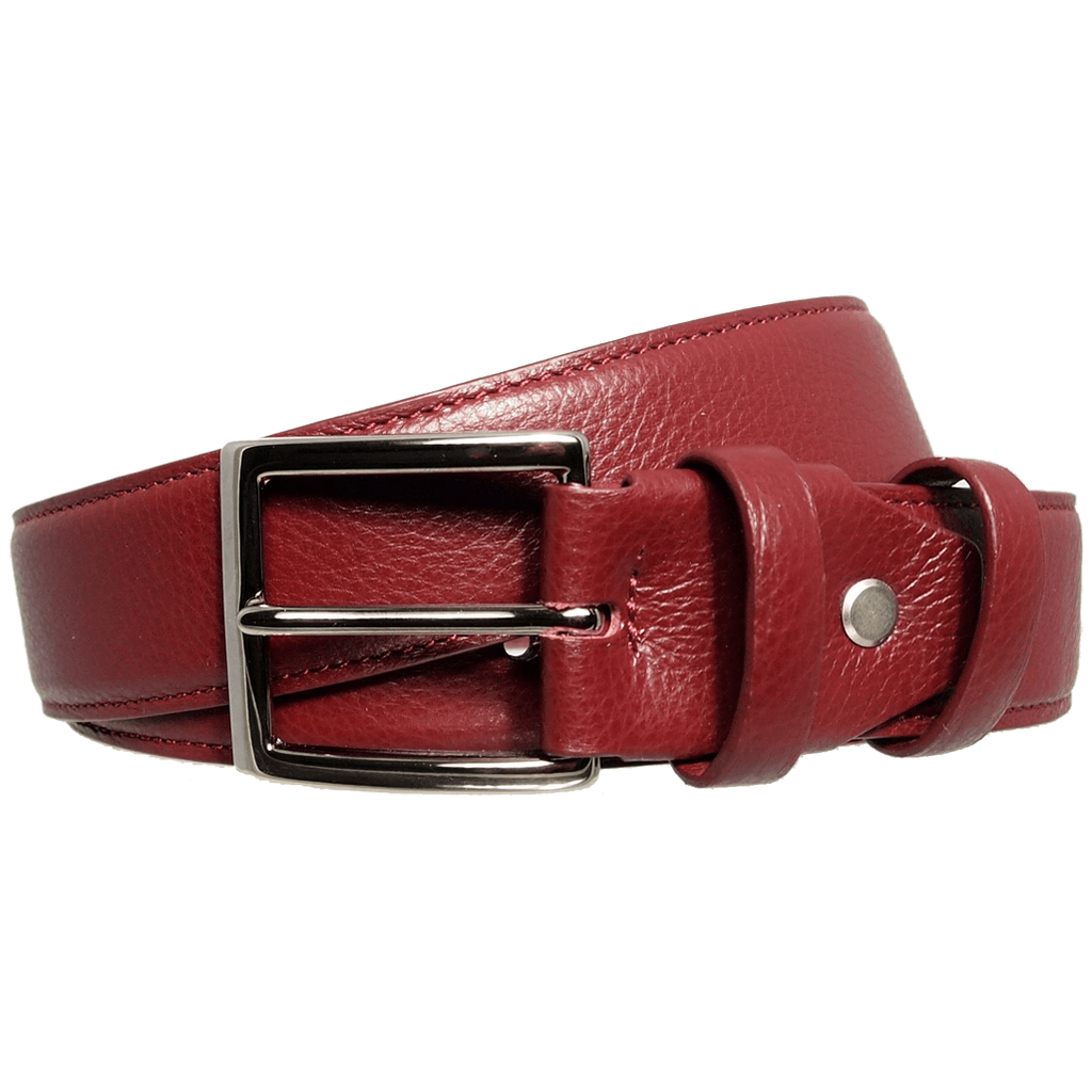 Duo Ply Calf Leather Belt Rosewood