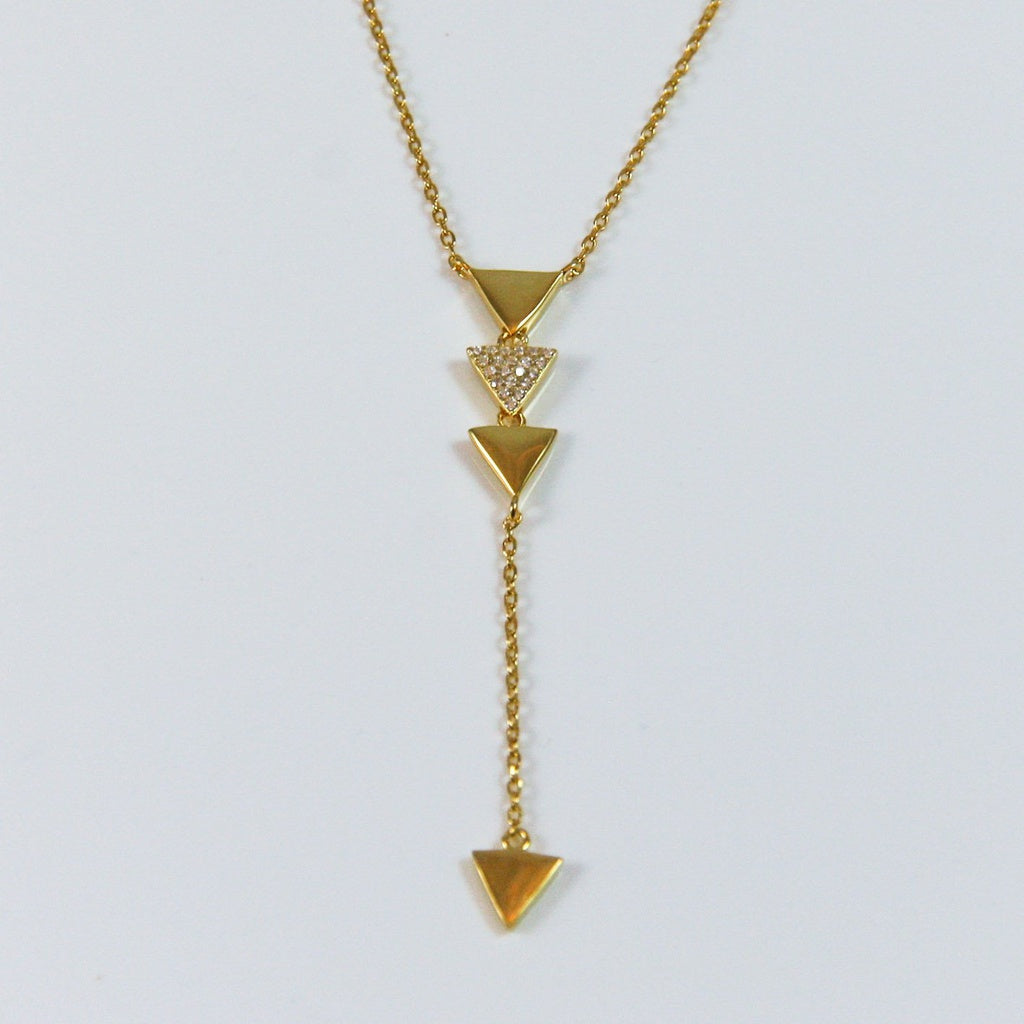 Geometric Triangle Pendant
