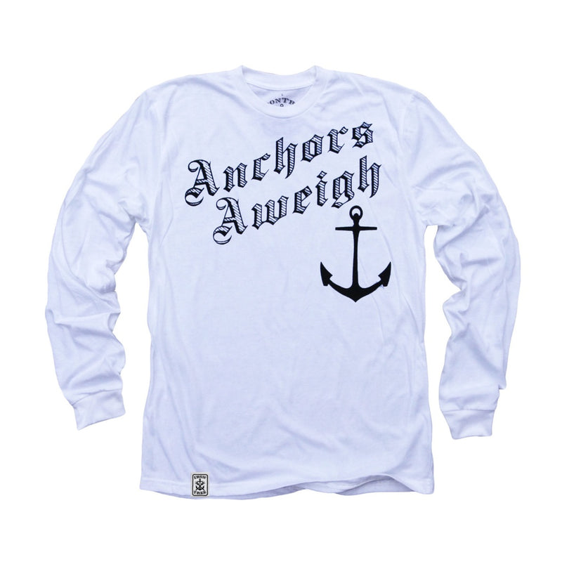 Anchors Aweigh: Organic Fine Jersey Long Sleeve T-Shirt