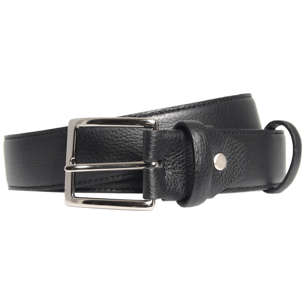 Duo Ply Calf Leather Belt Black