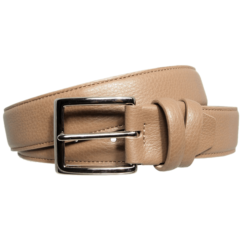 Duo Ply Calf Leather Belt Taupe