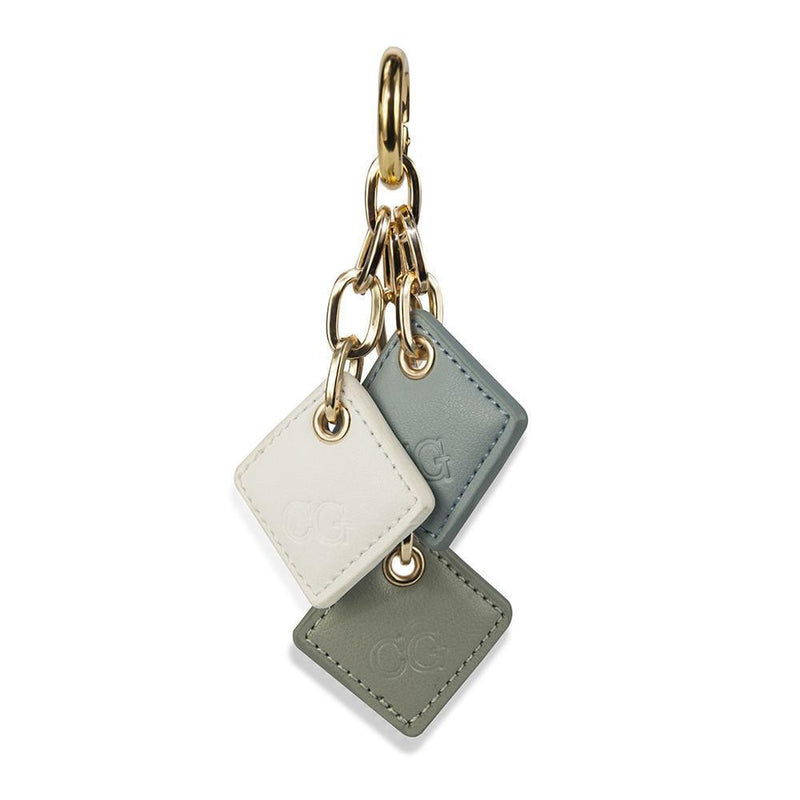 Diamond Drops Bag Charm- Blues