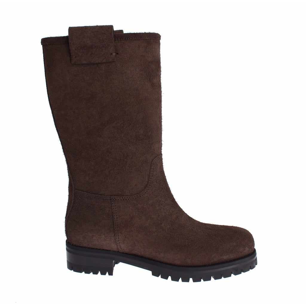 Dolce & Gabbana Brown Boots Leather Mid Calf