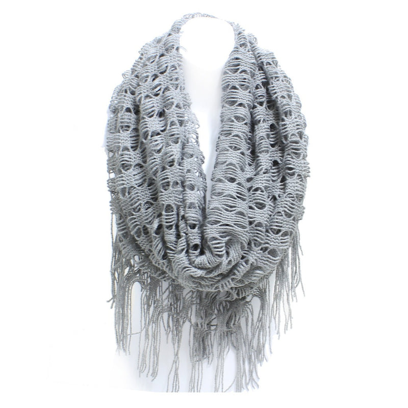 Diamond Weave Winter Tube Scarf