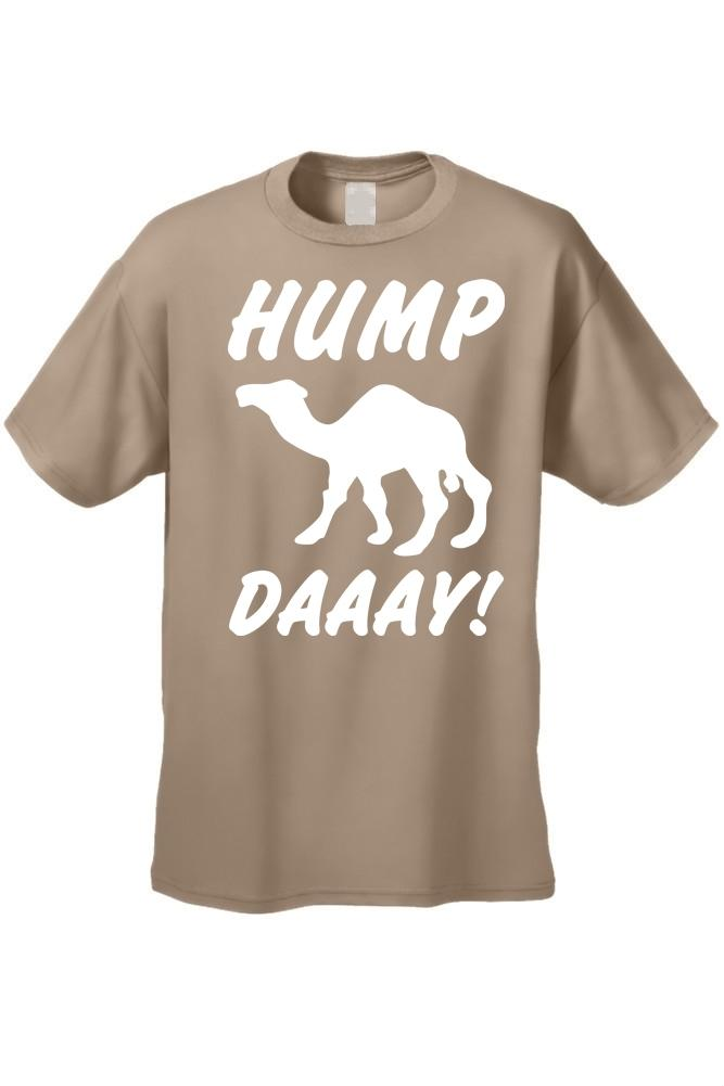 Men's Funny White What Day Is It? Hump Day! Camel SAND T-shirt