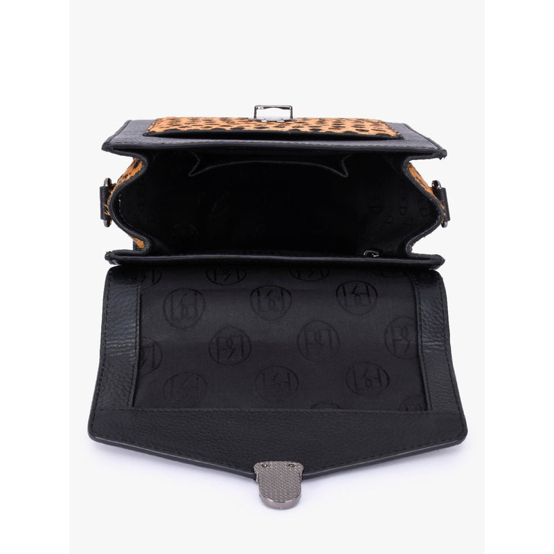 Phive Rivers Women's Black Leather Sling Bag