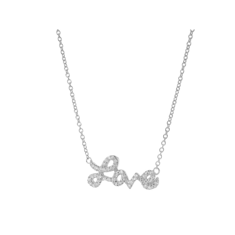 Sparkling Cursive Love Necklace