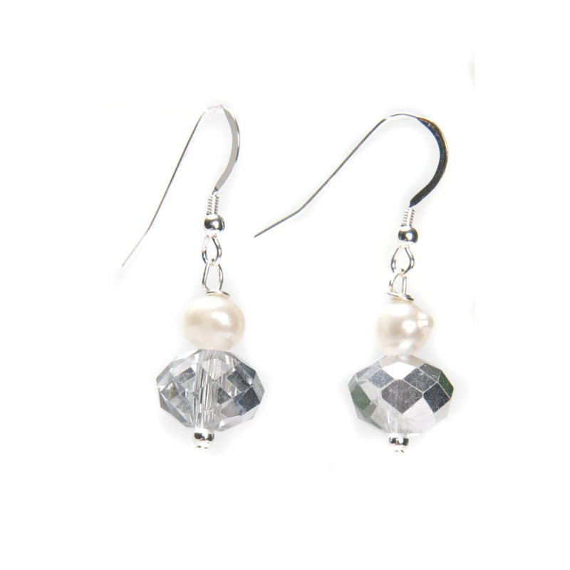 Kristin Pearl and Crystal Earrings