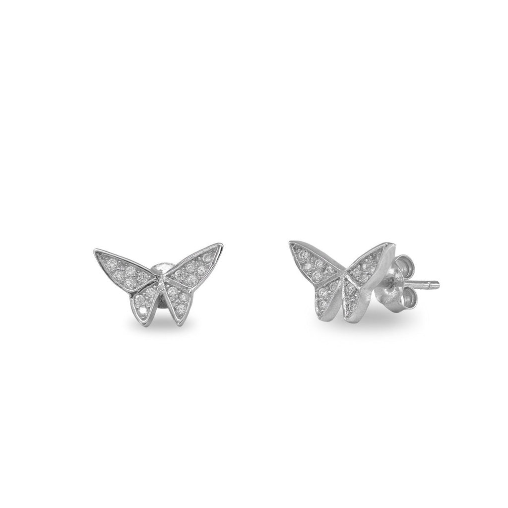 Sparkling Butterfly Studs