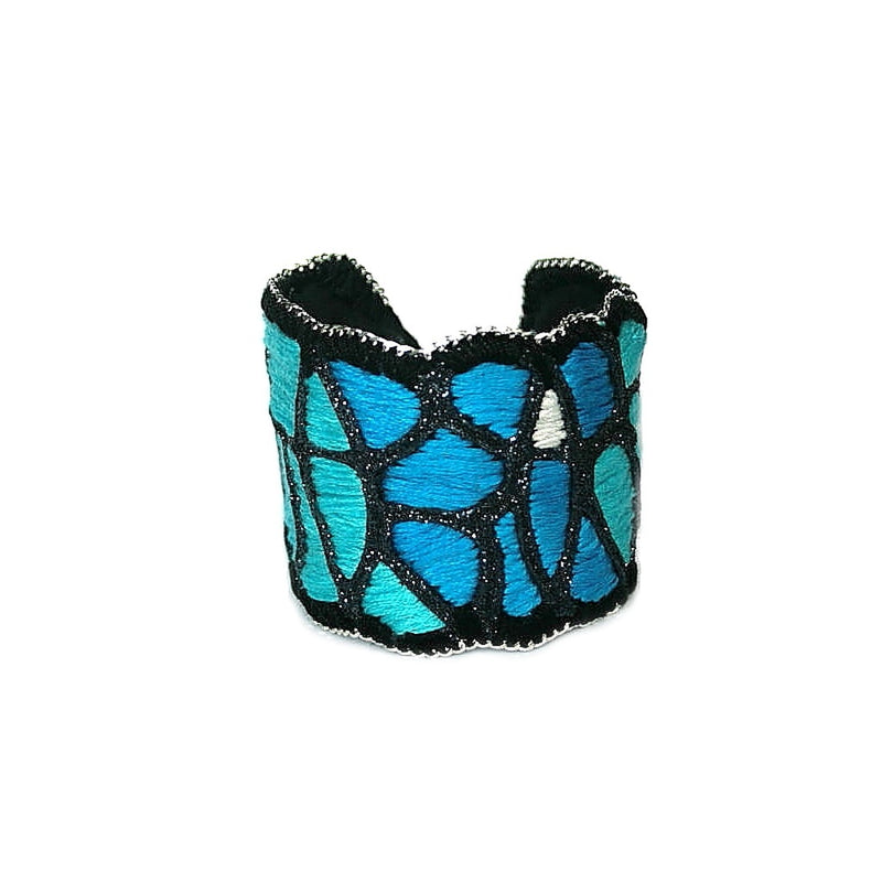 Warm Ocean Cuff Bracelet (gunmetal color)