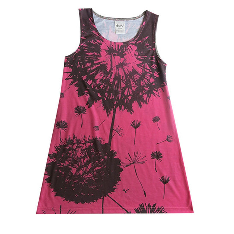 Dandelion on Pink- girls flower dress