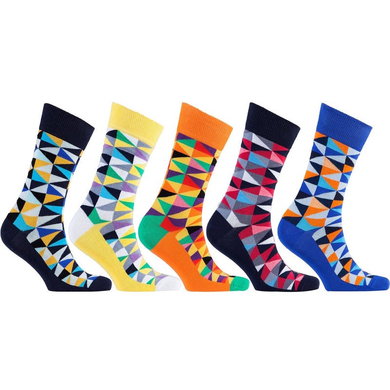 Men's 5-Pair Funky Patterned Socks