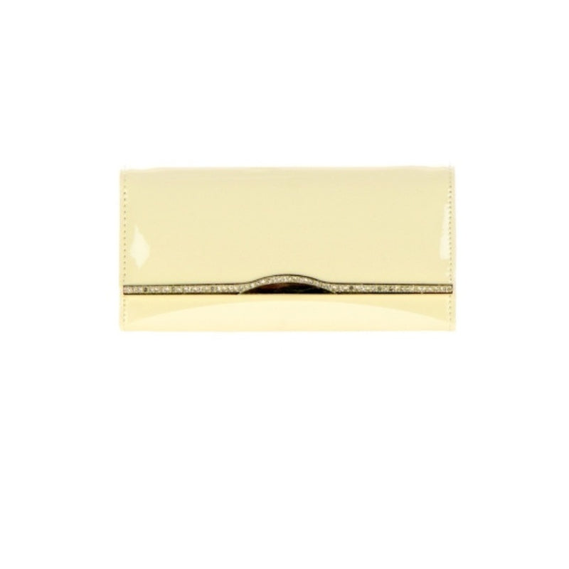 Women's Wallet Clutch Gold Accented Flap Wallet