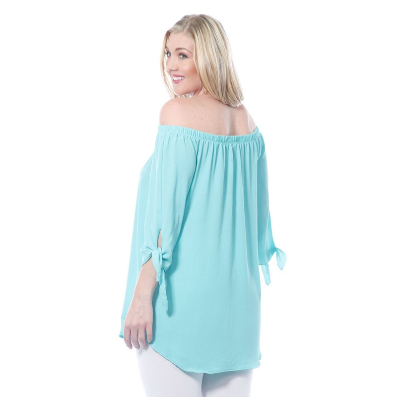 Plus Size Curvy Off the Shoulder Flowy Top Made in USA 1X 2X 3X