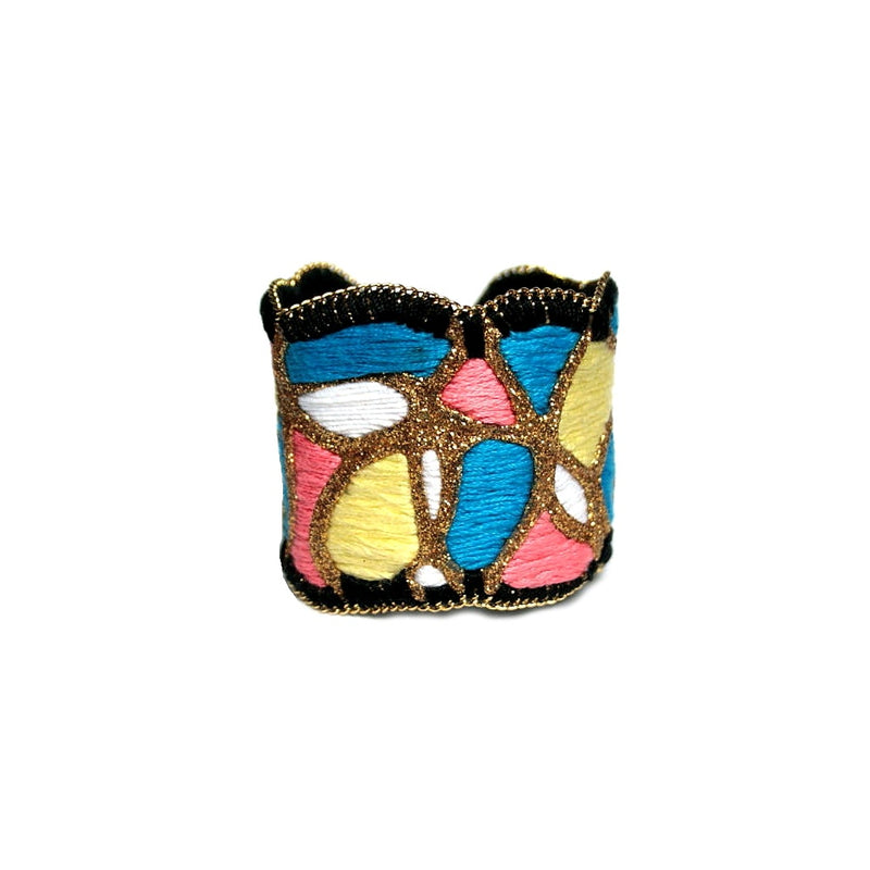 Paint Party Cuff Bracelet (gold color)