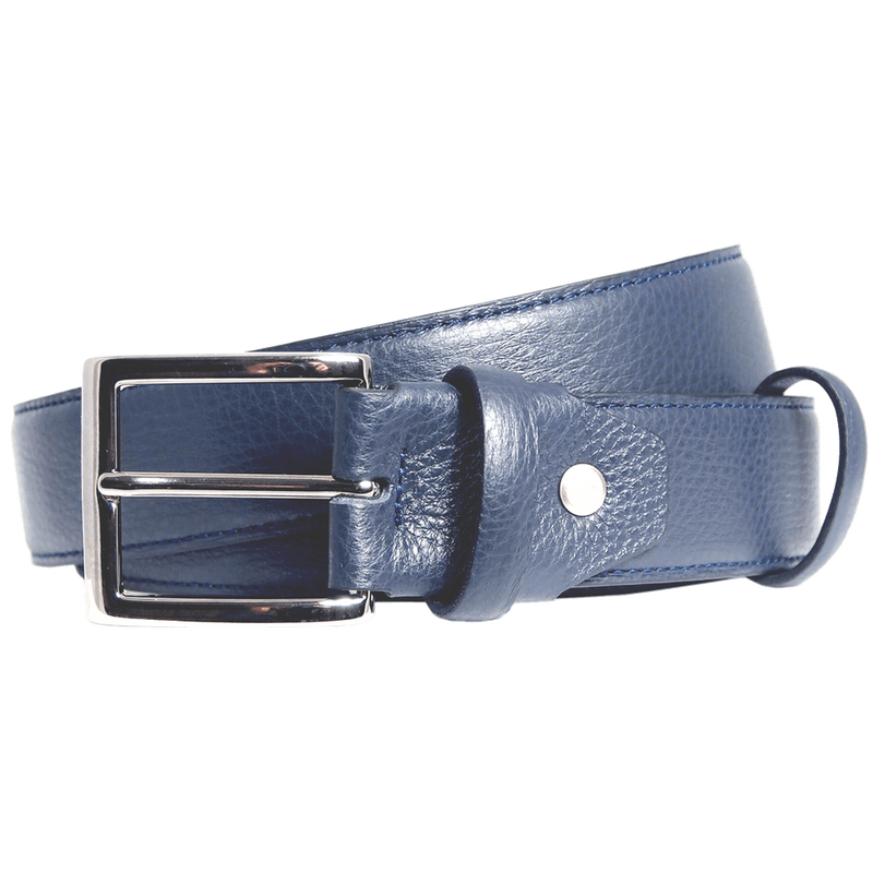 Duo Ply Calf Leather Belt Blue