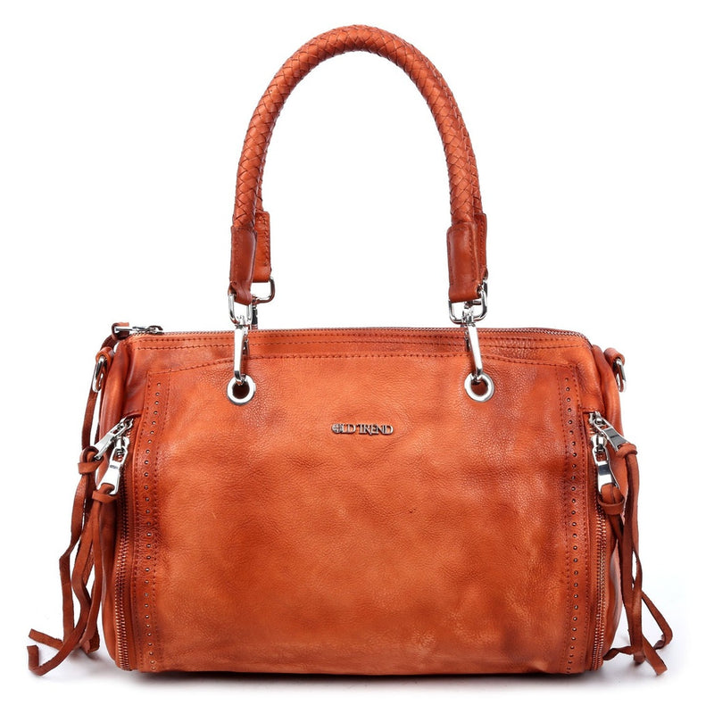 Walnut Leather Satchel