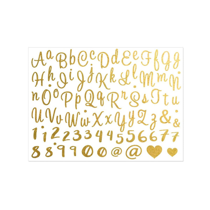 Alphabet Metallic Gold Temporary Tattoo