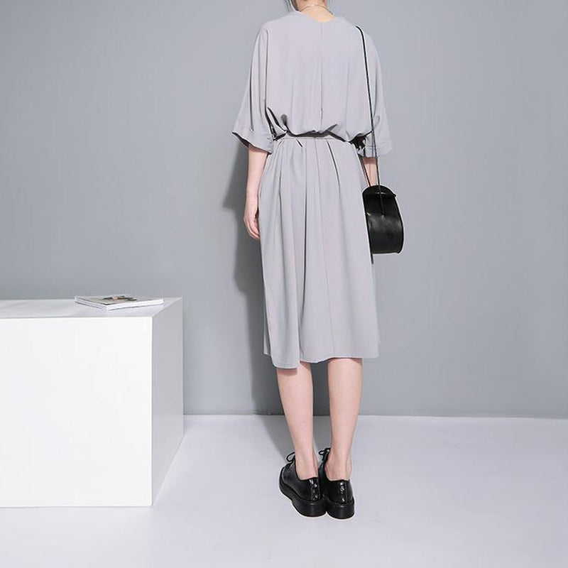 Aragon Belted Dress - Gray