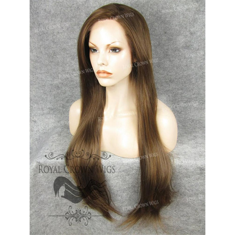"30"" Heat Safe Synthetic Straight Lace Front ""Hera"" in Light Brown Mix"