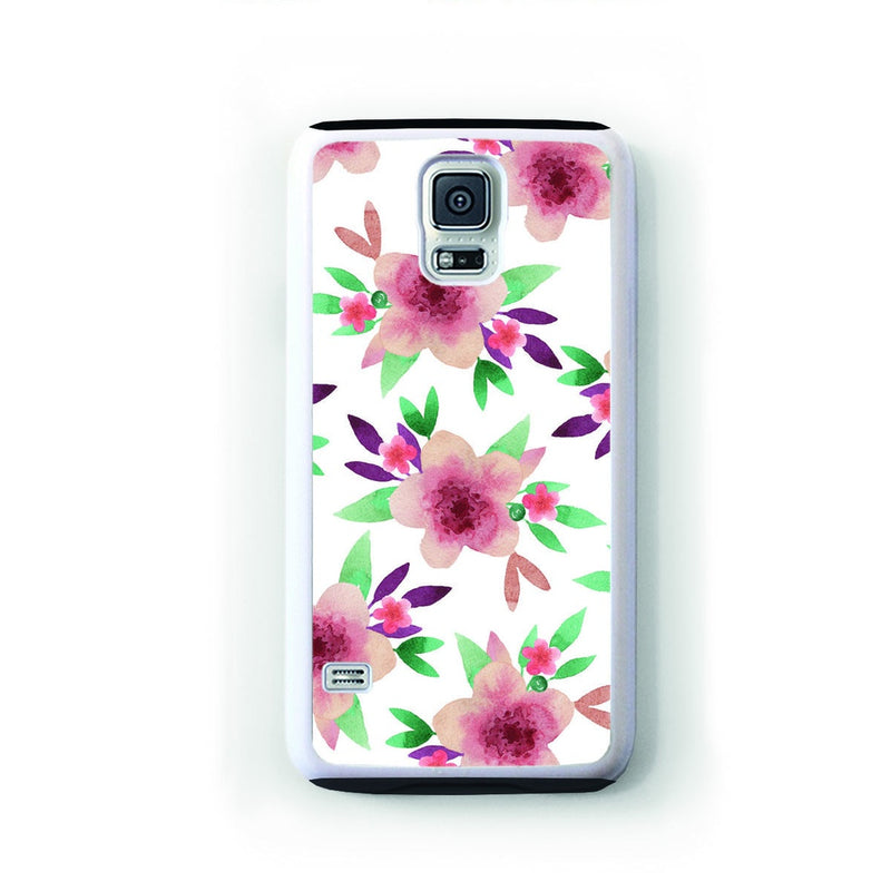 Clusters of pink flowers with pink and leaves for Galaxy S5