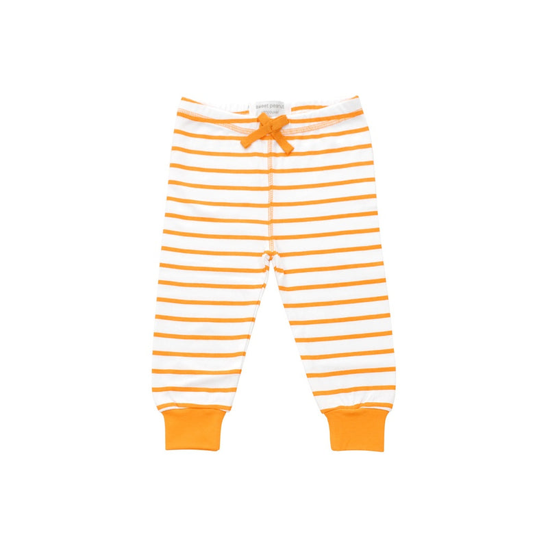 cozy pants in orange marseille stripe