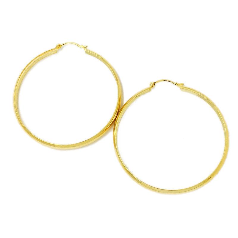 18k GL 45mm Simple Hoop Earrings