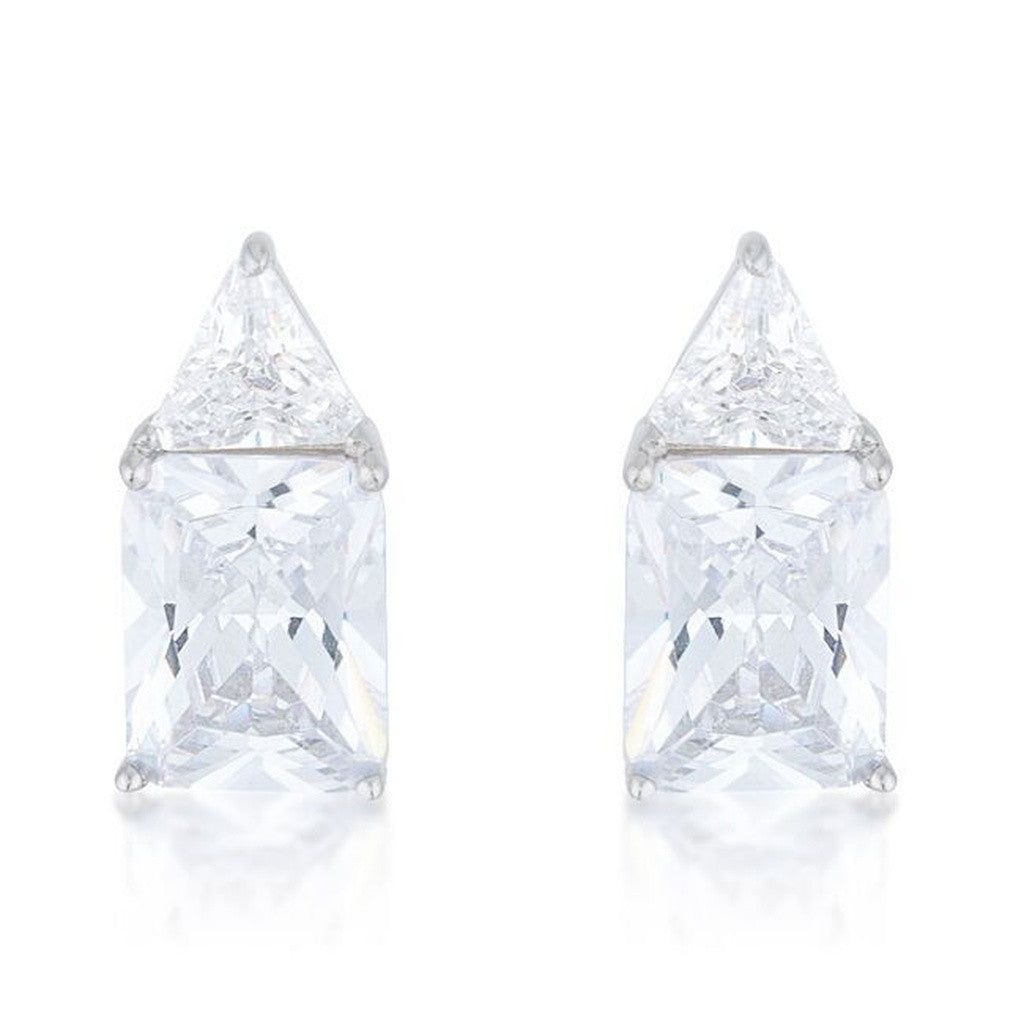 Clear CZ Sterling Silver Studs